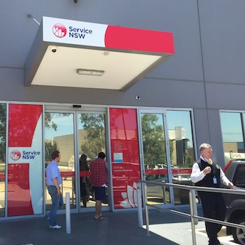 Service NSW store
